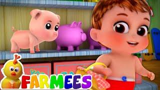 To Market To Market + More Nursery Rhymes & Kids Songs | Animal Cartoon Videos - Farmees