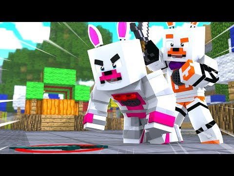 Lolbit And Funtime Foxy Trick Each Other In Murder Mystery (Minecraft Fnaf Roleplay Adventure)