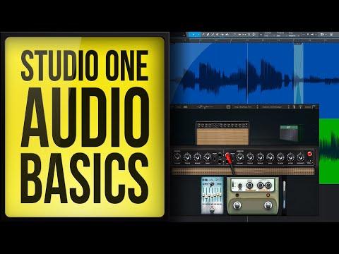Studio One Audio Recording and Editing Basics
