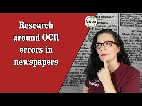 Research Around OCR Errors When Using Newspapers In Genealogy