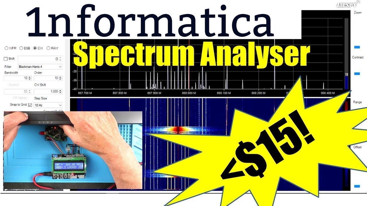 Spectrum Analyser RTL2832U-R820T SDR# Radio Frequency Electronic Project