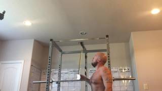 42 1/2 years of age, @185 lbs bw mixing in some ceiling touching hi...
