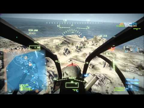 BF3 Perfect Chopper Round (90-1) | Kharg Island: AH-1Z | Conquest HD Gameplay