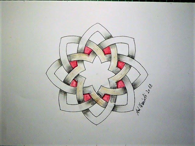 Keltischer  Knoten 184  Bandverläufe - Design 73 -
