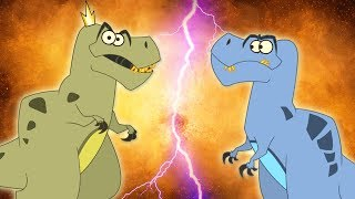 Clash Of The Dinosaurs | T-Rex Vs T-Rex | Cartoons For Kids | Educational Facts | I'm A Dinosaur