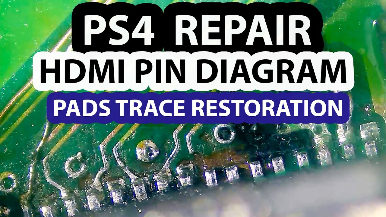 PS4 HDMI Trace Repair - Pins Layout Diagram and connector replacement -  YouTube | Ps4 Component Cable Wiring Diagram |  | YouTube