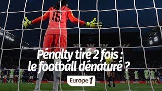 Penalty tiré deux fois :