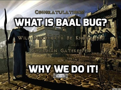 Diablo 2: Showing what Baal bug is, and why we do it