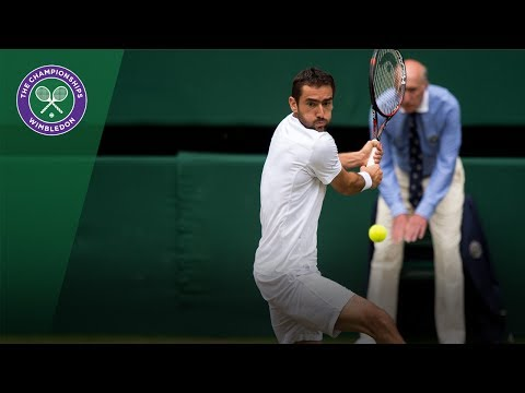 Marin Cilic v Sam Querrey highlights - Wimbledon 2017 semi-final