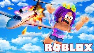 Surviving A Plane Crash In Roblox!
