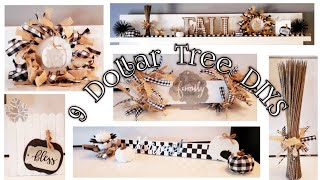 9 Dollar Tree DIYS/ Black & White Buffalo Plaid Farmhouse Theme~ MUST WATCH