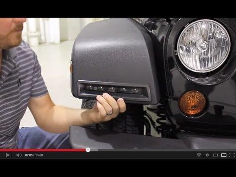 jeep wrangler led lights installation youtube. Black Bedroom Furniture Sets. Home Design Ideas