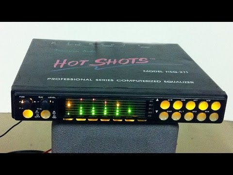 Unboxing Old School Car Audio Gear Part 2 Precision Hot Shots Hsq 271 Eq