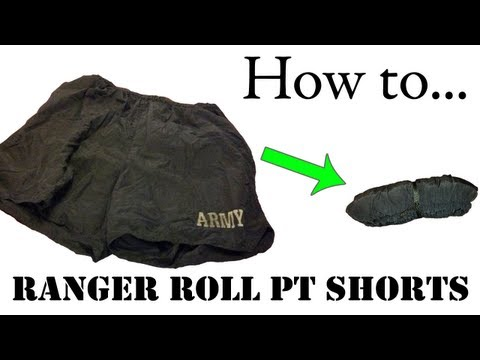 Army Packing Hack: How to Ranger Roll Shorts or Boxers - Basic Training APFU Uniform Tutorial