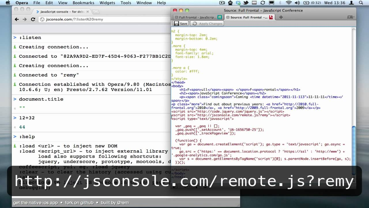 Remote debugging JavaScript on any device