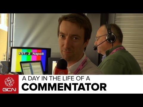 Cycling Commentators - A Day In The Life Of