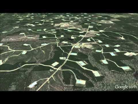 Louisiana Fracking Damage From Above