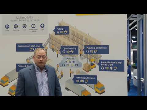 Voxware demonstrates their Virtual Reality booth at Promat Show 2019
