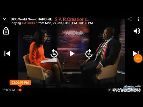 BBC World News Hardtalk Deputy President South Africa Cyril Ramaphosa Speaking