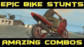 GTA 4 - EPIC Bike Stunts AMAZING Montage