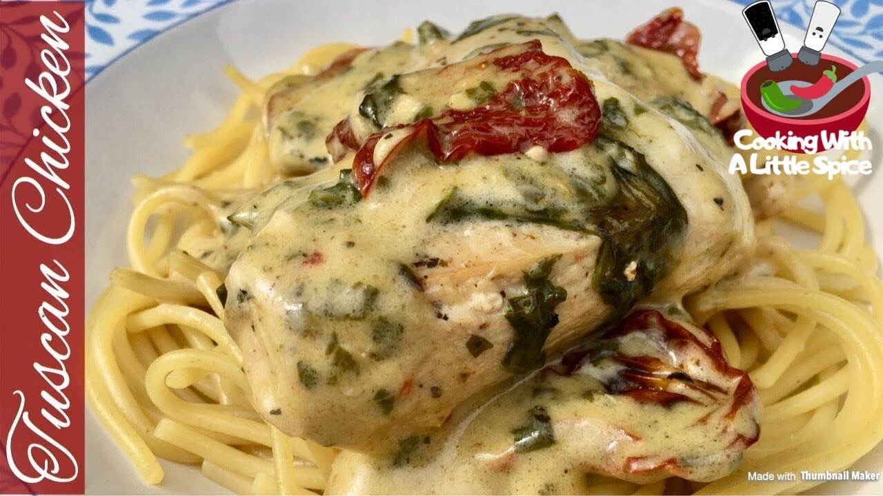 Easy Creamy Tuscan Chicken Recipe - YouTube