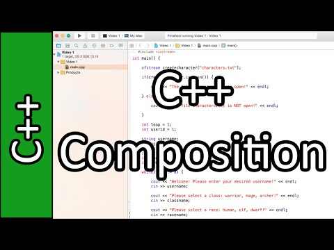Composition - C++ Programming Tutorial #39 (PC / Mac 2015)