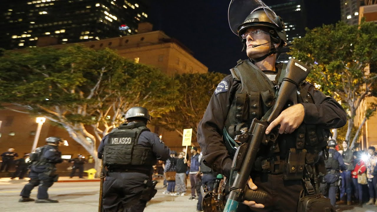 Will banning military-style gear for police reduce tensions?