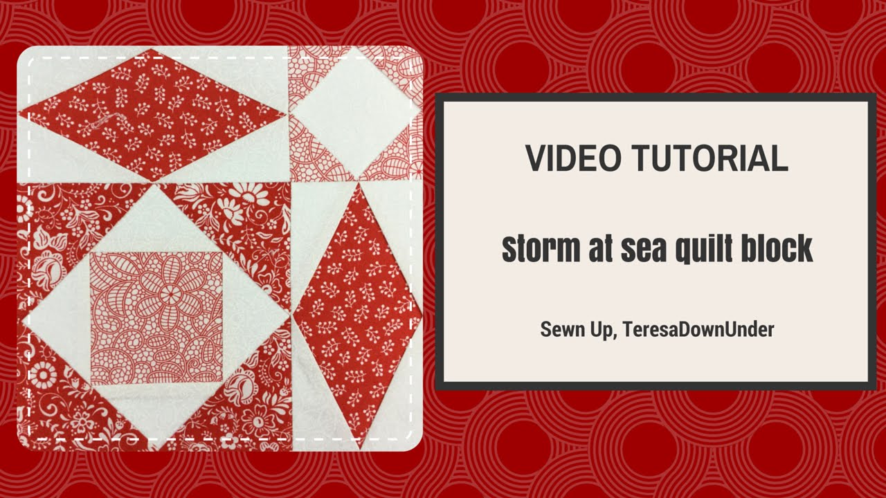 storm at sea quilt template - video tutorial quick and easy storm at sea quilt block