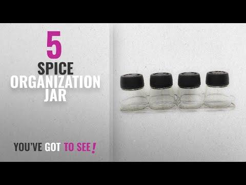 Top 10 Spice Organization Jar 2018: Haneez® Glass Spice