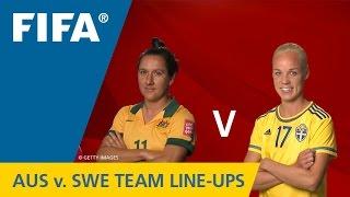 Australia v. Sweden - Team Lineups EXCLUSIVE