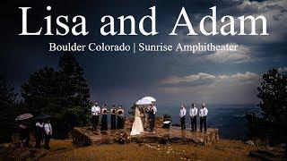 Boulder Colorado Wedding | Sunrise Amphitheater | Lisa and Adam