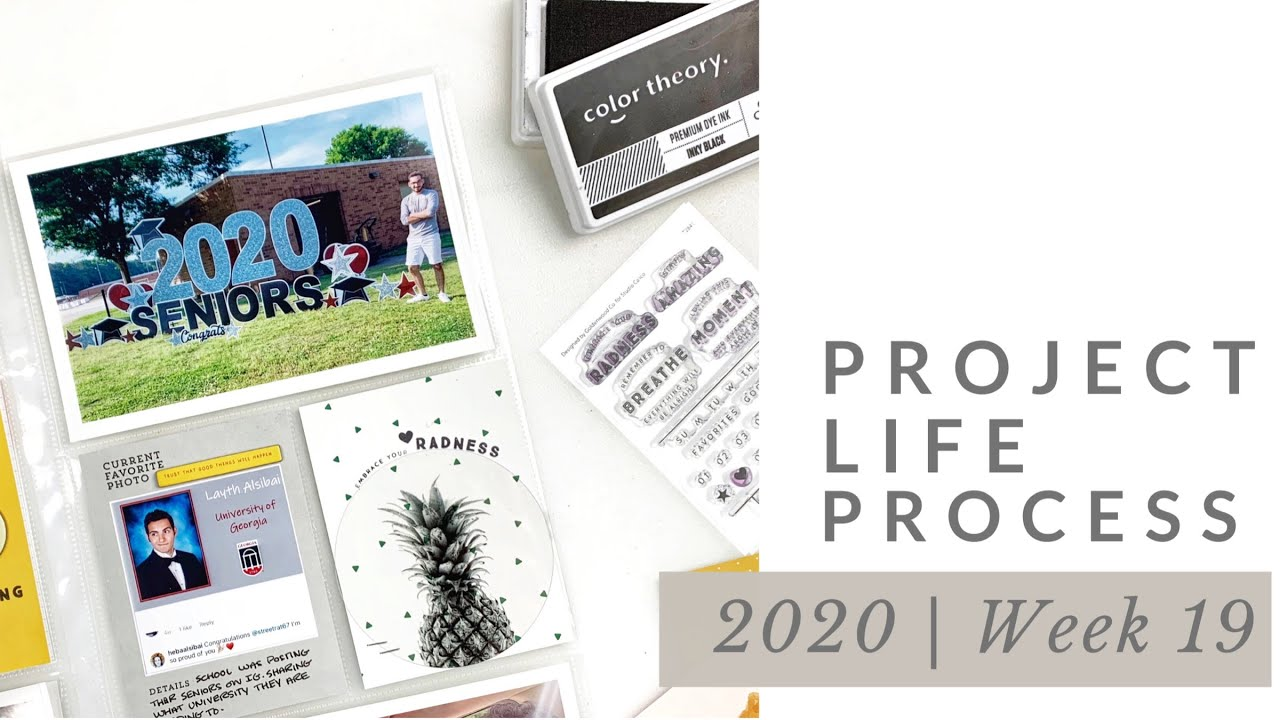 Project Life Process Week #19 2020 | Studio Calico DT Sunset Documenter Kit