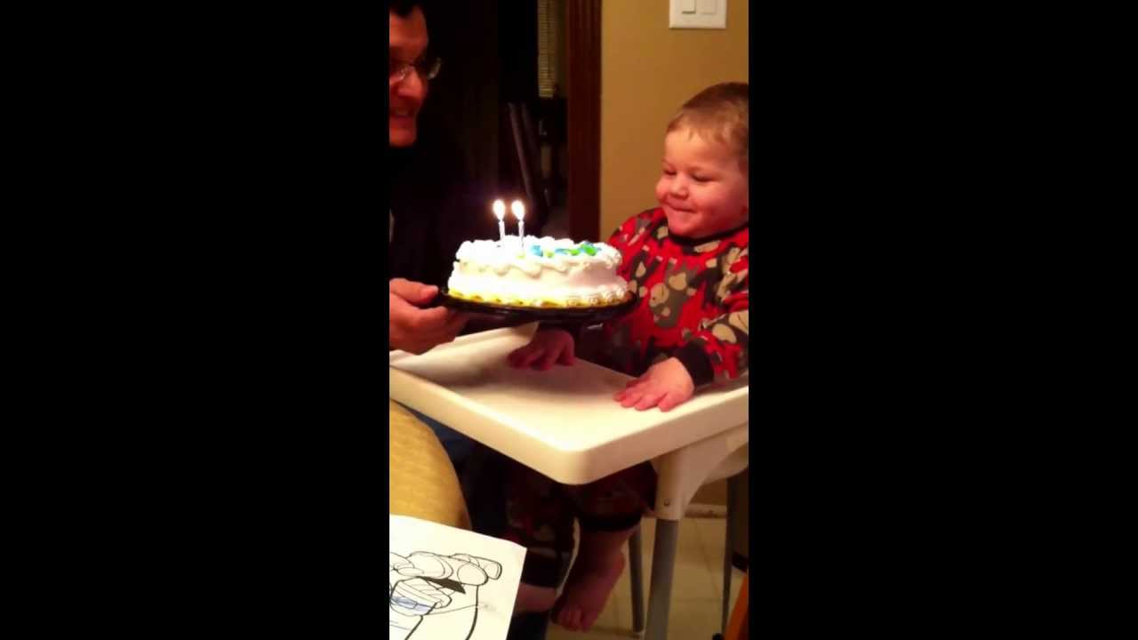 2 Year Old Blowing Out Birthday Candles Youtube