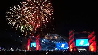 Eurovision  2018 (winner - Israel Netta Barzilai -Toy ) Eurovision village Lisbon (fireworks)