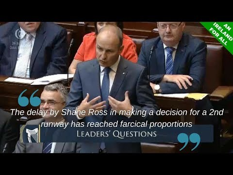 Transport Minister Shane Ross Dithers On Dublin Airport