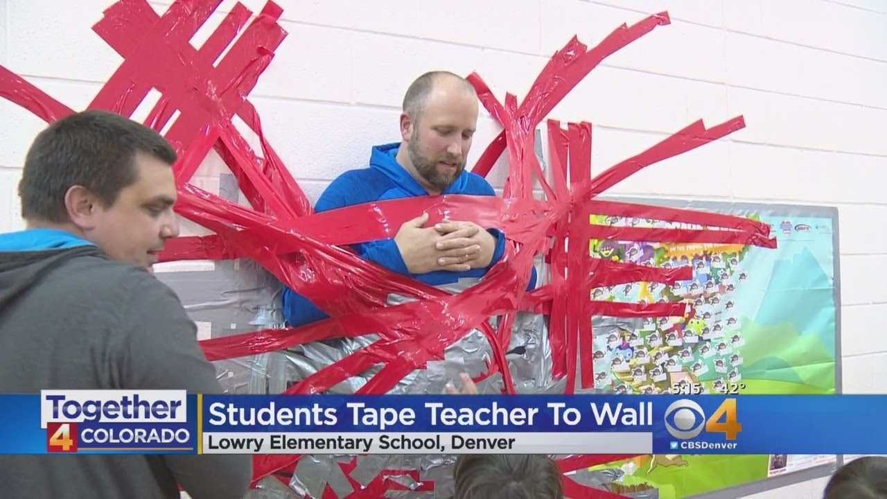 Students Tape Teacher To The Wall