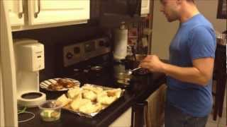 The Dude In The Kitchen: Chicken Parmesan With Garlic Bread And Pasta