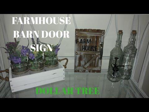 Diy farmhouse barn door sign/ diy farmhouse flower crate