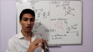 Mécanique du point :  8 - Les Systèmes de Coordonnées Résumé SMPC-SMAI  (Darija)