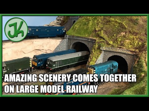 Amazing Scenery Comes Together on Large Model Railway – Building the Loft Layout, part 13