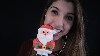 ASMR [Christmas Themed] Marshmallow Eating 🎅☃️