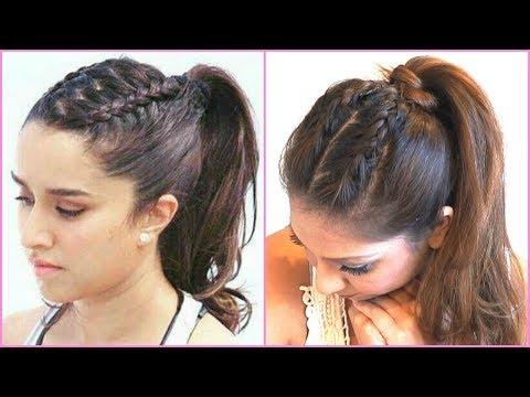 braided-ponytail-hair-tutorial-inspired-by-shraddha-kapoor-in-half-girlfriend-│-ponytail-hairstyle