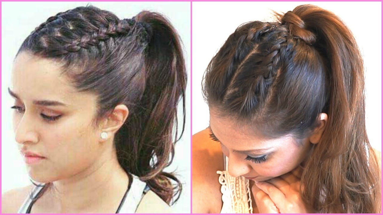 BRAIDED PONYTAIL HAIR TUTORIAL INSPIRED BY SHRADDHA KAPOOR IN HALF ...