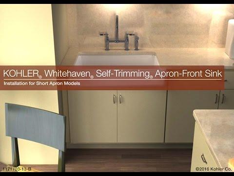 Kohler Whitehaven Sink Installation Short Apron   EFaucets.com