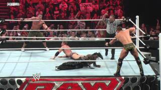 Raw - Cena & Ryder vs. The Miz & R-Truth