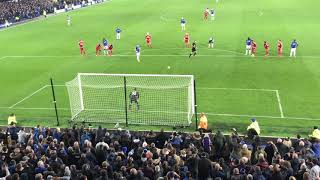 Leighton Baines With Everton's Penalty To Take The Lead.