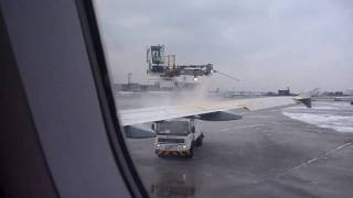 Airbus A320 deicing at EDDF (Frankfurt International Airport -- Frankfurt am Main)