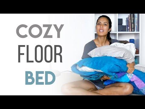 How We Sleep on the Floor - Minimalist Floor Bed Setup