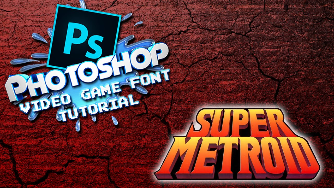 Photoshop video game font tutorial super metroid style youtube baditri Gallery
