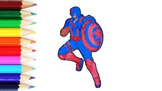 Learn Colors and drawing IROM MAN